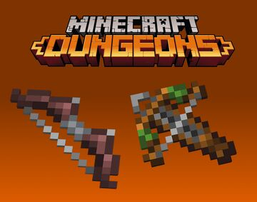 Dungeons Crossbow & Bow Minecraft Texture Pack
