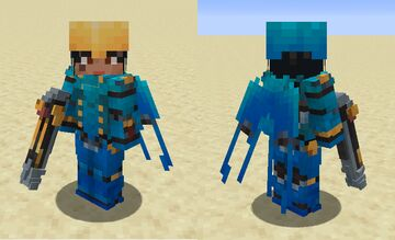 Classic Pharah's Accessories - Bow, Helmet and Elytra texture - Overwatch Minecraft Texture Pack