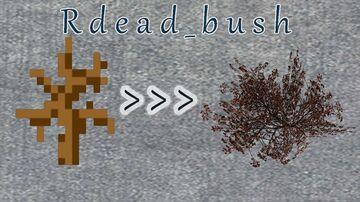 Realistic dead bush! Minecraft Texture Pack