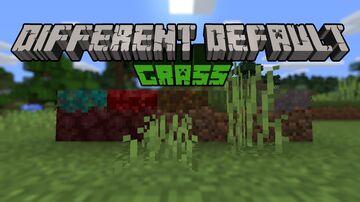 Different Default: Grass Minecraft Texture Pack