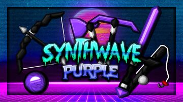 Synthwave V2 [PURPLE] 256x Minecraft Texture Pack