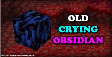 Old Crying Obsidian Minecraft Texture Pack