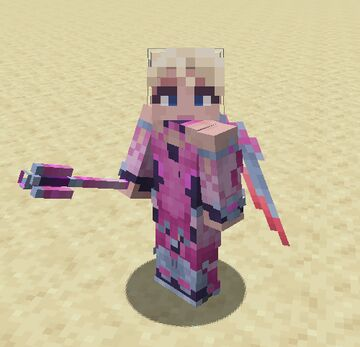 Pink Mercy's Accessories - Elytra and Sword Texture - Overwatch Minecraft Texture Pack