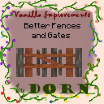 Better Fences and Gates Minecraft Texture Pack