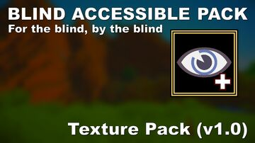 BLIND ACCESSIBLE PACK (Version 1.0) Minecraft Texture Pack