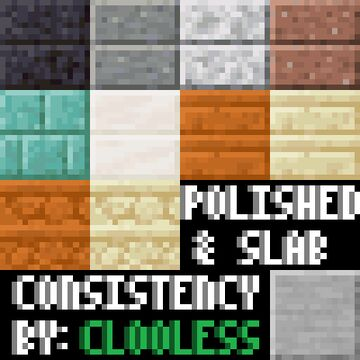 Polished & Slab Consistency Minecraft Texture Pack