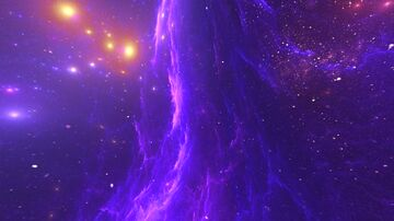 Purple Galaxy Nebula Overlay (custom sky overlay!) Minecraft Texture Pack