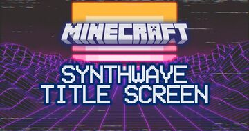 Synthwave Title Screen Minecraft Texture Pack