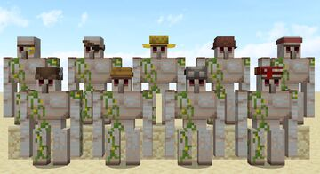 Golems with hats [OptiFine] Minecraft Texture Pack