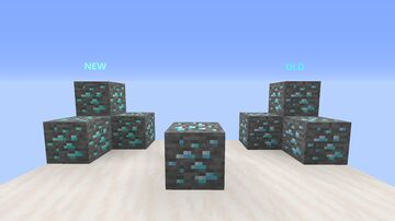 Old-New Diamond Ore Minecraft Texture Pack