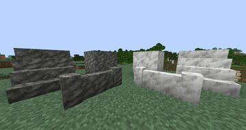 Calcite and Tuff stairs and other Minecraft Texture Pack