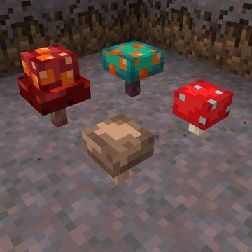 3D Mushrooms Minecraft Texture Pack