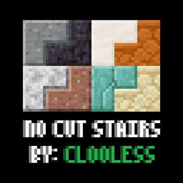 No Cut Stairs Minecraft Texture Pack