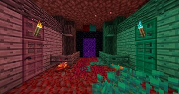 Nether wood in old style Minecraft Texture Pack