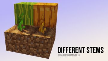 Different Stem Colors Minecraft Texture Pack