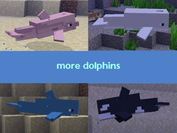 More dolphins varities (requires optifine) Minecraft Texture Pack