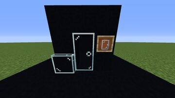 glass doors and trapdoors Minecraft Texture Pack