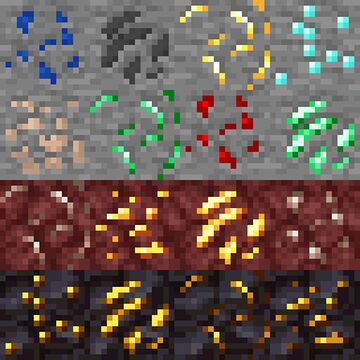 Variated Ores Minecraft Texture Pack