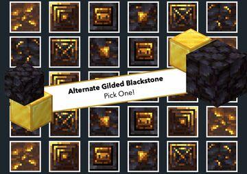 Alternate Gilded Blackstone Randomised Version! Minecraft Texture Pack