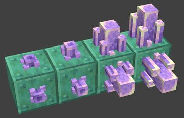 3D Amethyst Crystals Minecraft Texture Pack