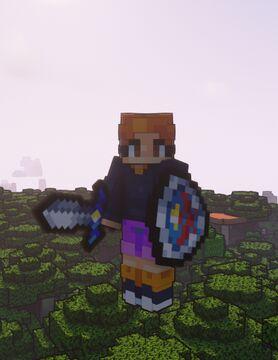 Bloom, Bright and Retro - Hero's Sword Addon Minecraft Texture Pack