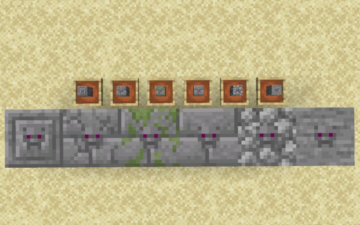 Infested stones in item and block form