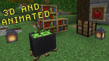 Textura 3D e Animada Minecraft Texture Pack