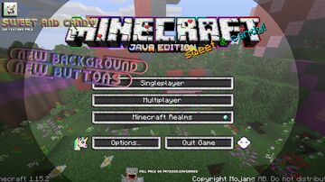 SWEET AND CANDY | GUI-TEXTURE-PACK 1.15.x Minecraft Texture Pack