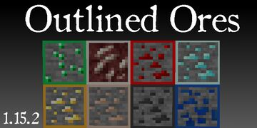 Visible ores(Outlined ores) Minecraft Texture Pack