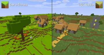 Bare Bones [Vanilla Biome Colours Addon] Minecraft Texture Pack