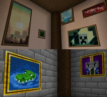 dungeon paintings Minecraft Texture Pack