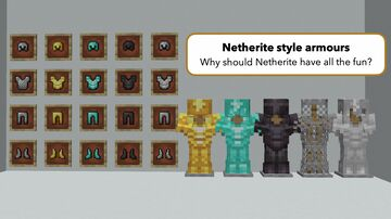 Netherite Style Armours Minecraft Texture Pack