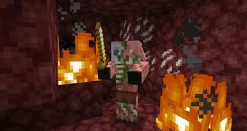 Zombified Piglins in 1.14 Minecraft Texture Pack