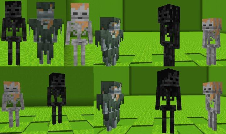 The Skeleton Undead variants. Wither Skeleton, Husk and Skeleton Alex.