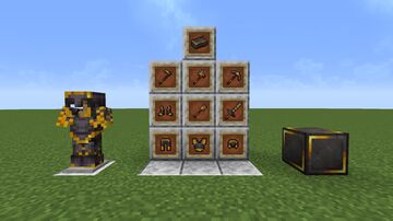 Netherite with gold Minecraft Texture Pack