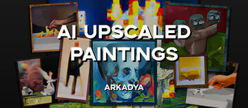 AI Upscaled Paintings (Topaz Gigapixel AI) [1.15.2] Minecraft Texture Pack
