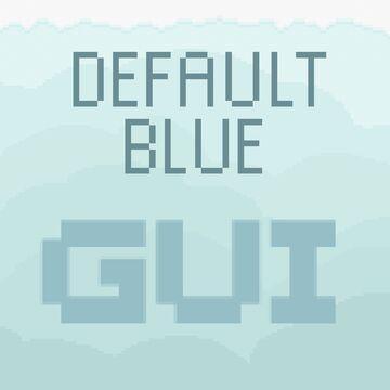 Default Light Blue GUI Minecraft Texture Pack