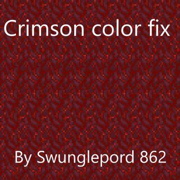 Crimson color fix Minecraft Texture Pack