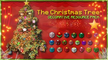 The Christmas Tree | Decorative Resource Pack Minecraft Texture Pack