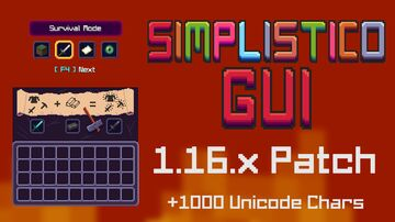 Simplistico GUI - [1.16.x & 1.15.x] [DOWNLOAD] Minecraft Texture Pack