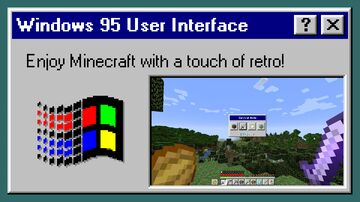 Windows 95 User Interface Minecraft Texture Pack