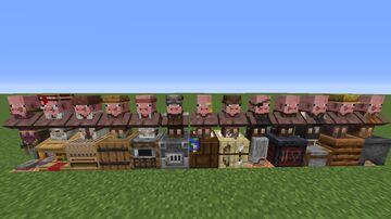Piglagers - Pig Villagers Minecraft Texture Pack