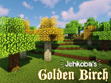 Jehkoba's Golden Birch Leaves Minecraft Texture Pack
