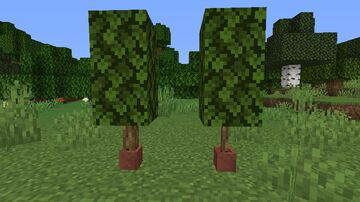 Potted Oak Log(Cactus) Minecraft Texture Pack