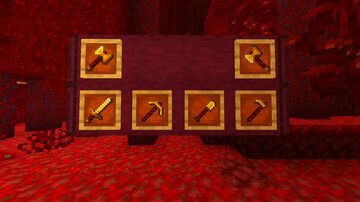 Crimson Gold Tool Rods Minecraft Texture Pack