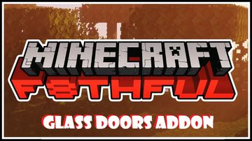 Glass Doors Addon For F8thful 8X8 Texture Pack Minecraft Texture Pack