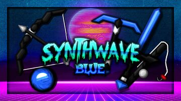 Synthwave V2 [BLUE] 256x Pack Minecraft Texture Pack