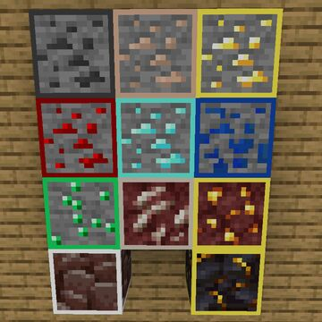 Outlined Ores for 1.16 Minecraft Texture Pack