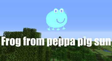 Frog from Peppa Pig sun Minecraft Texture Pack