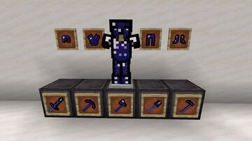 Galaxy Diamond Armor and Tools Minecraft Texture Pack